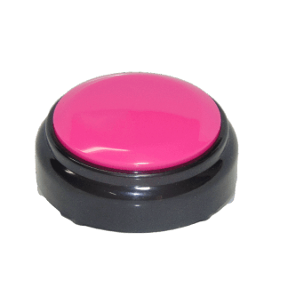 The Pink Top Black Bottom Custom easy Button
