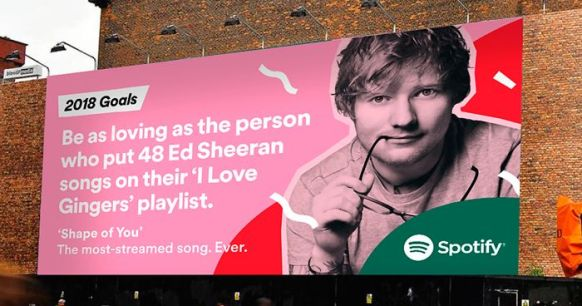 Spotify's fun facts ad as one of the best OOH campaigns