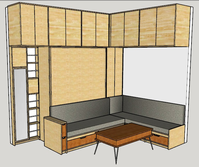 Murphy Bed design for URBN Escalante