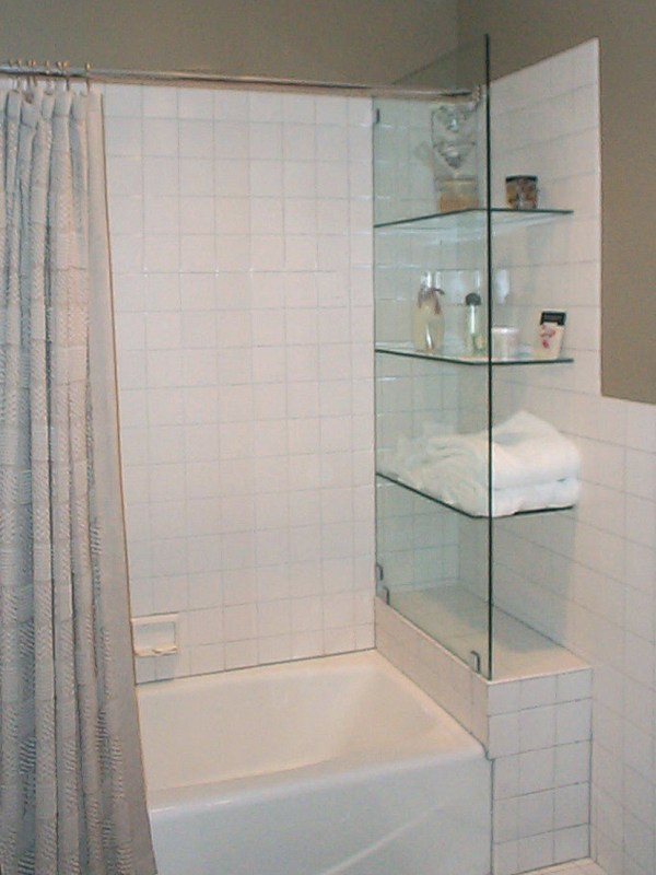 Custom Glass Shelves Bath