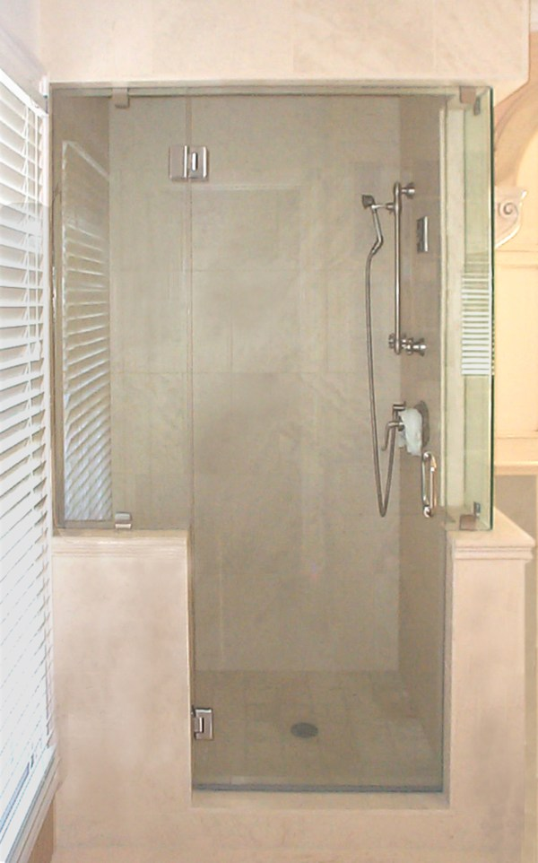 Lowe's Shower Doors Glass Frameless with Knee Wall