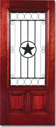 Texas Star Custom Wood Wrought Iron Doors