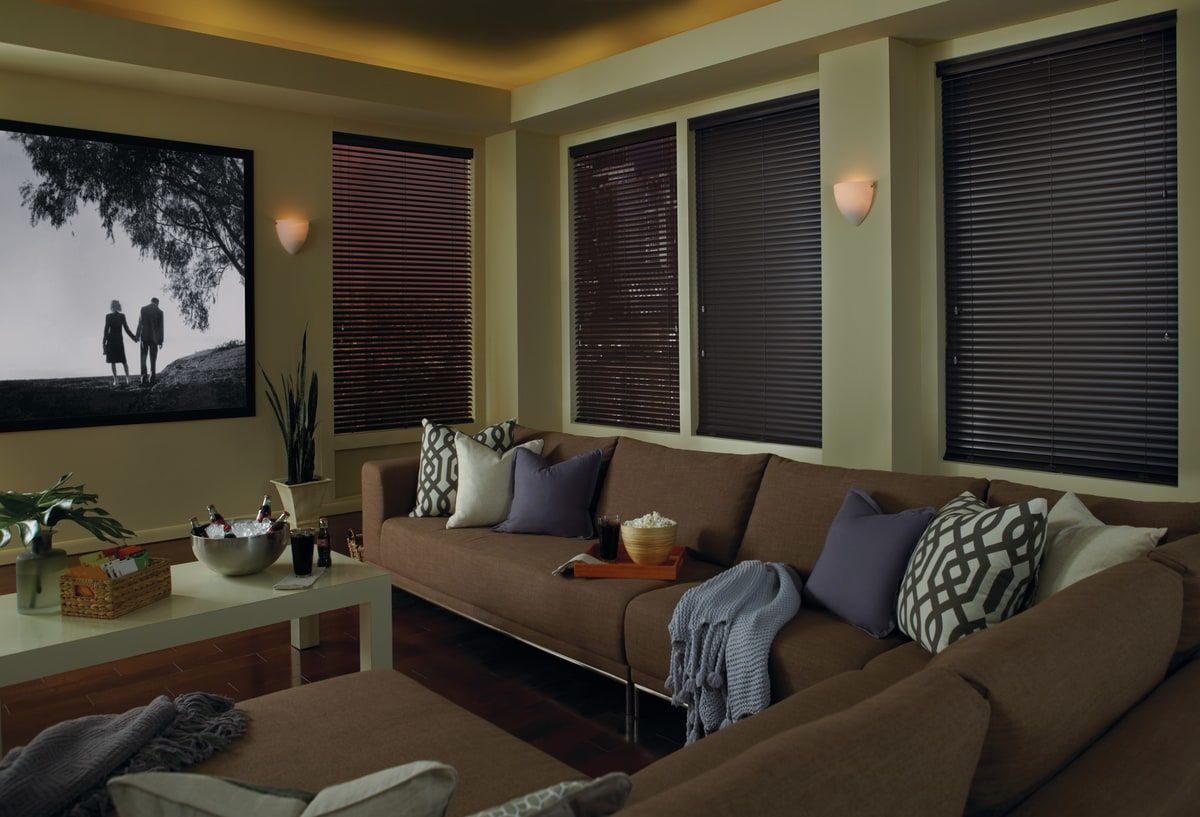 Hunter Douglas' de-Light feature hides the cords and the routing holes for more control over light and privacy.