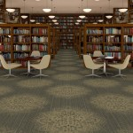 Bolyu Carpet installed in a library.