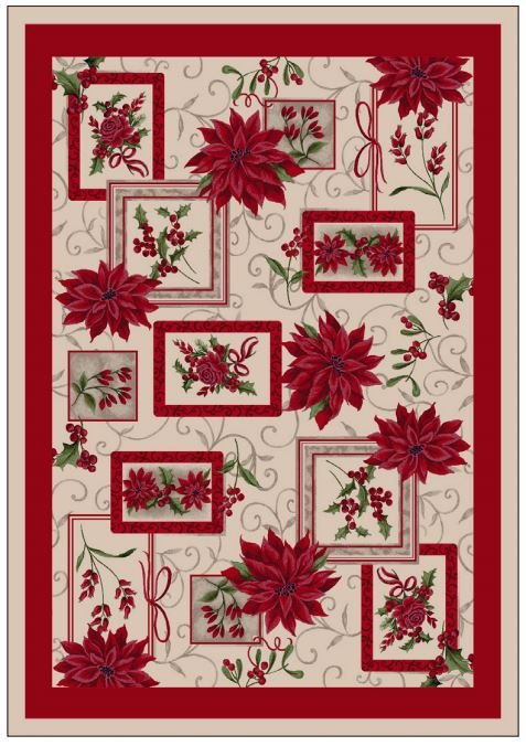 Milliken Holiday Area Rugs - Winter Bouquet