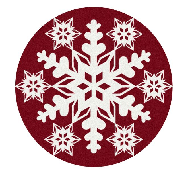 Milliken Holiday Area Rugs - Nordic Snowflake