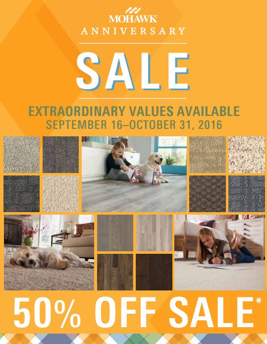 Extraordinary Values at the Mohawk Anniversary Sale