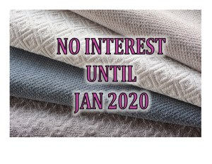 No Interest Until January 2020