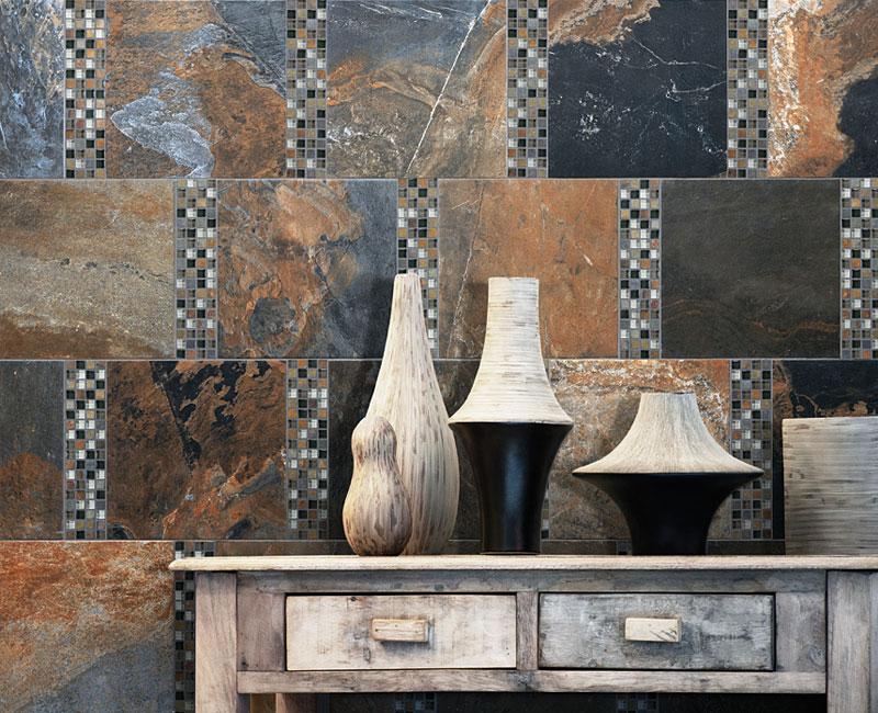 Bliss Mosaic Tile Installed