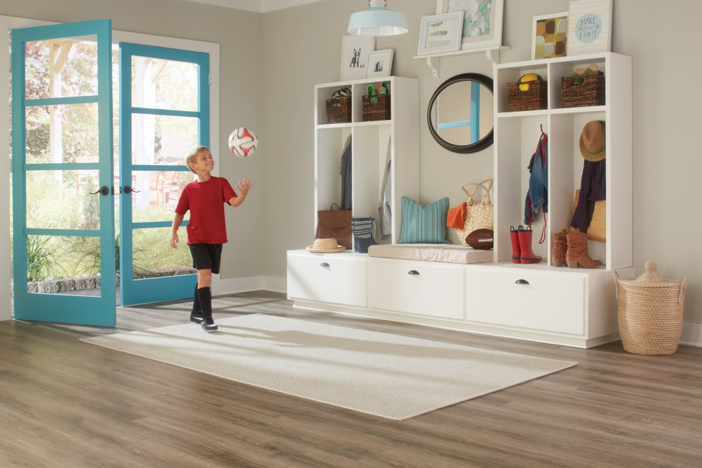 Mohawk SolidTech flooring is designed for families and active lifestyles.
