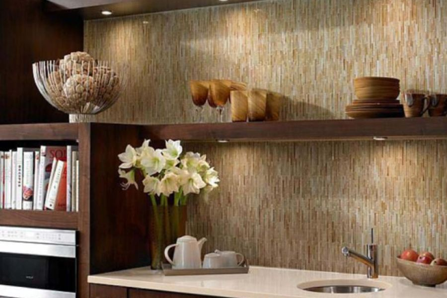 Natural Weave Skinny Staggered Vertical Glass Bars available at Custom Home Interiors!