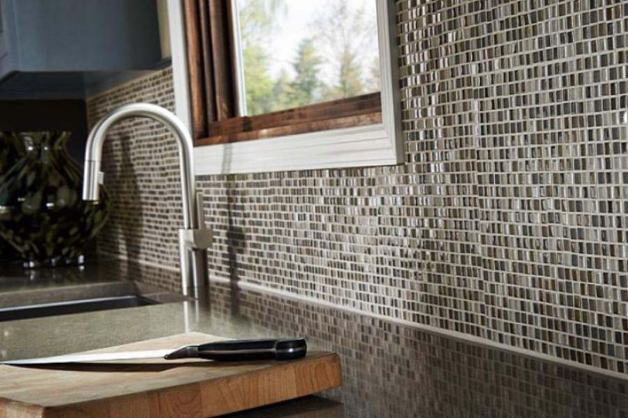Micro Mini Glass Natural Cut Mosaics available at Custom Home Interiors!