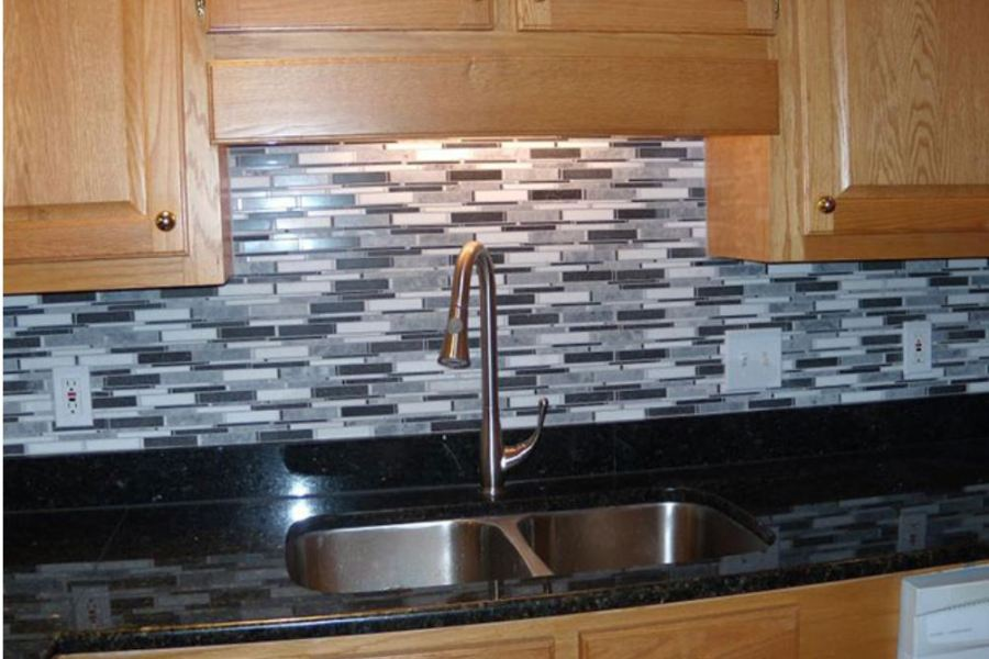 Glazzio Square Natural Stone Mosaic available now at Custom Home Interiors!