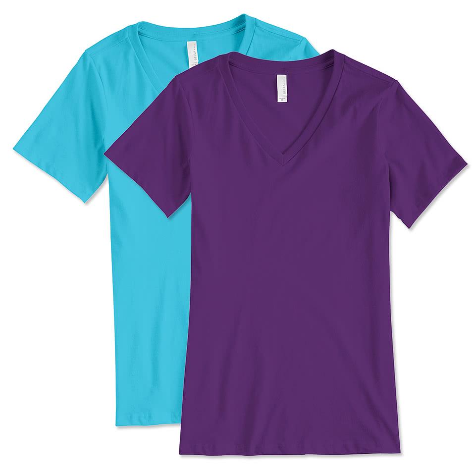 medium resolution of bella canvas women s v neck t shirt
