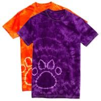 Custom Dyenomite Paw Print Tie-Dye T-shirt - Design Short ...