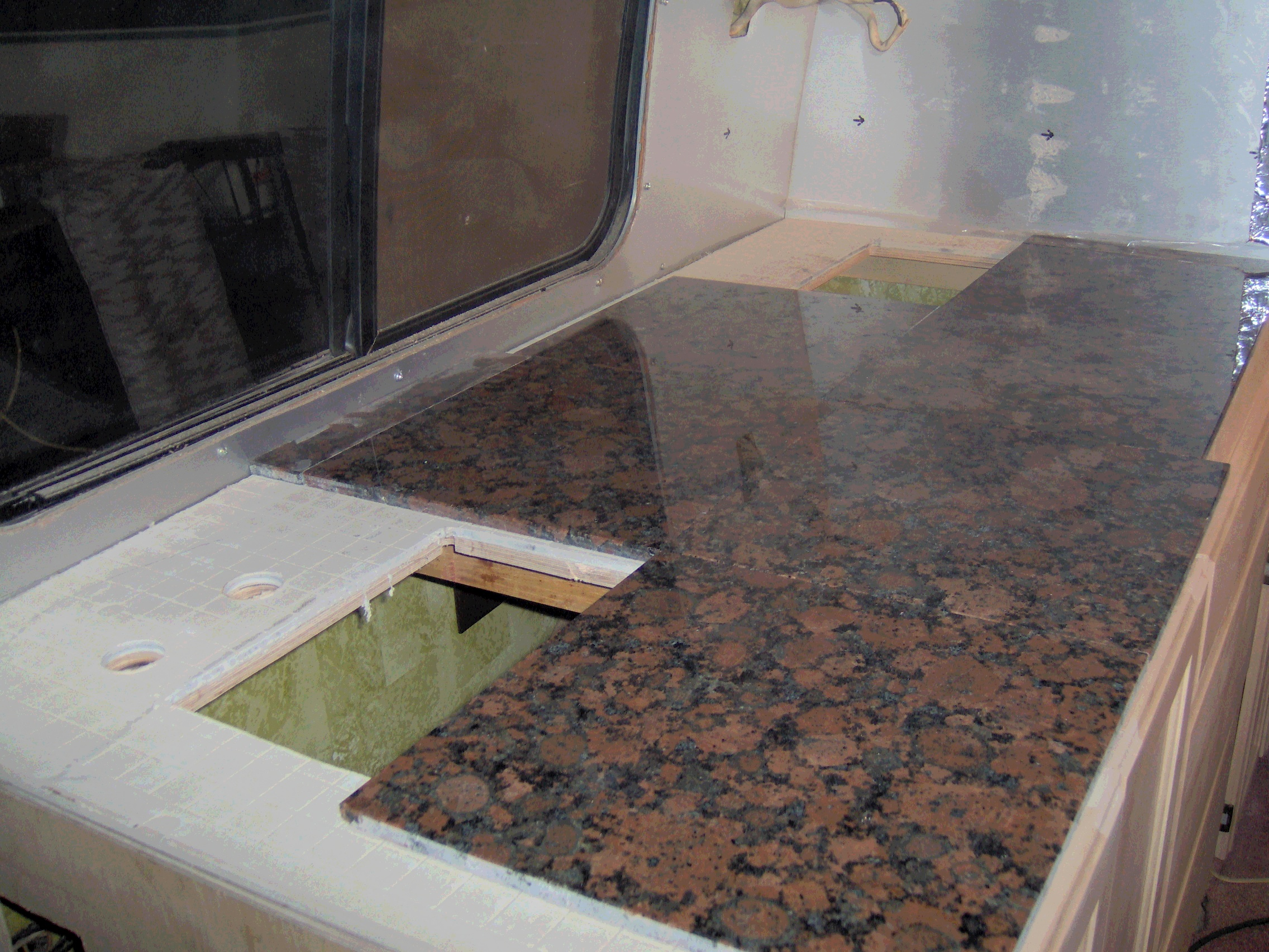 tiled kitchen countertops high flow faucet granite tile countertop casual cottage