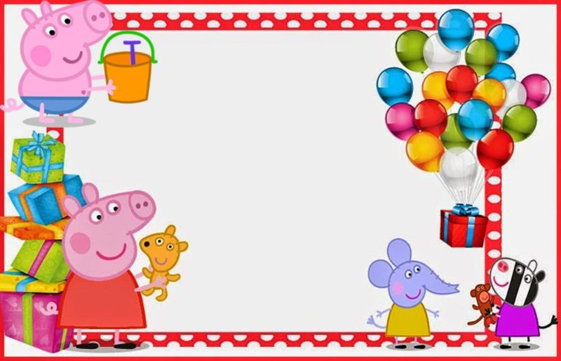 peppa pig invitations make people