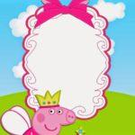 peppa pig birthday party invitation
