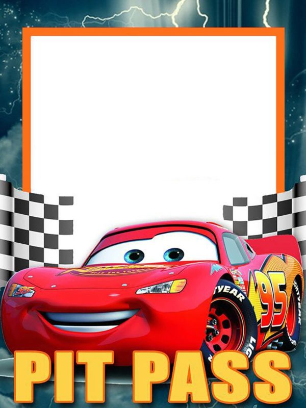 Lightning McQueen Invitation Template Free Free