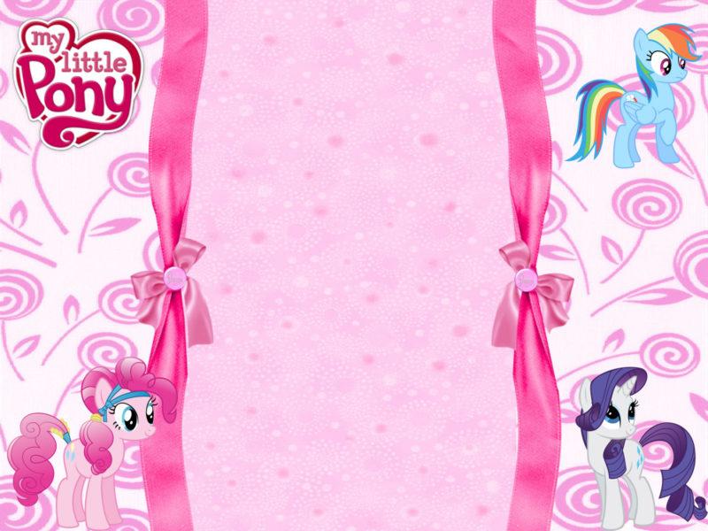 12 adorable my little pony invitation