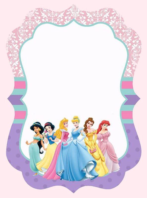 princess party invitation cards