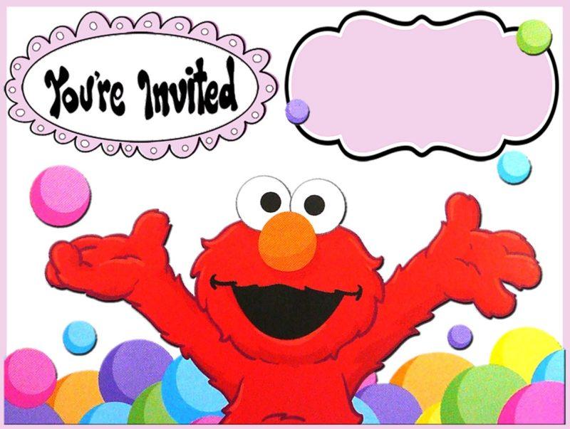 12 printable elmo invitations