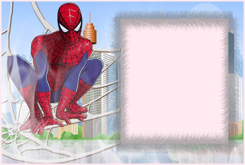 custom spiderman invitation free