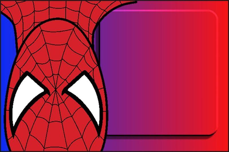 printable spiderman party invitation