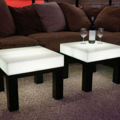 Led Table And Chairs Accent Chair With Brown Leather Sofa Aurora Series Lighted Furniture Lounge