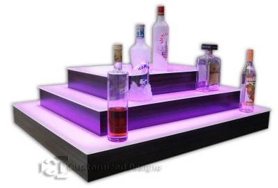 Multi-Sided Island Style Commercial Bar Shelving for ...