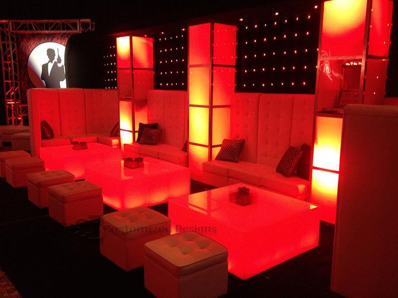 LED Lighted Nightclub  Bar Lounge Furniture  Customize