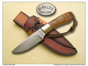 Michael Miller English Walnut & Silver Wire Hunter