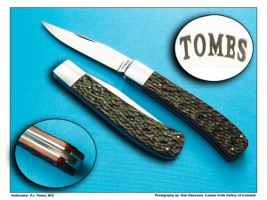 P.J. Tomes, M.S. Single Blade Trapper – Amber Jigged Bone
