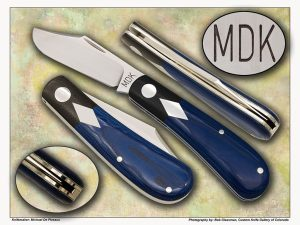 Michael De Plessus Double Shield Lanny's Clip in Blue Micarta