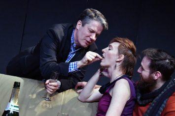 Paul demonstrates pistachios (Matt Weimer, Fenner)