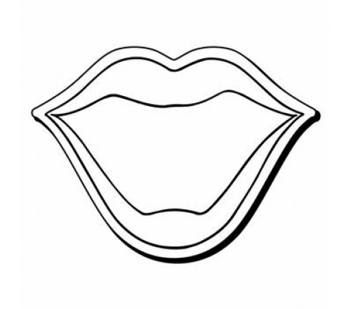 2.31x3 Custom Printed Mouth Shaped Magnets 20 Mil