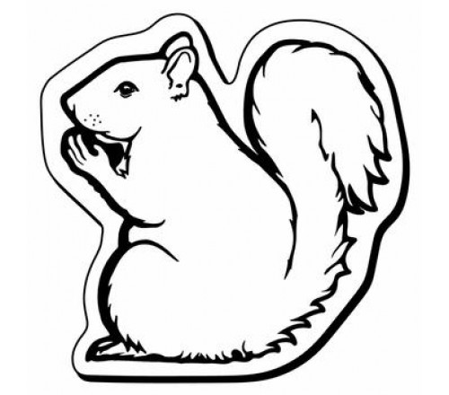 2.37x2.37 Custom Printed Squirrel Shaped Magnets 20 Mil