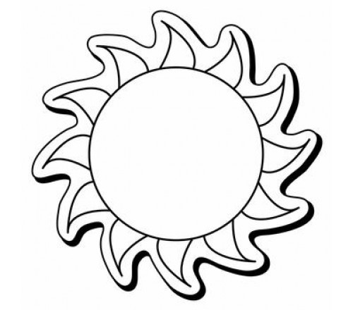 2.5x2.5 Custom Printed Sun Shaped Magnets 20 Mil
