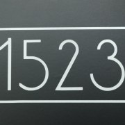 Anson Mailbox Numbers Reflective