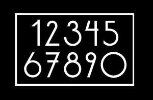 Modern Mailbox numbers