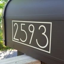 Modern Mailbox Decals With Exact House Numbers
