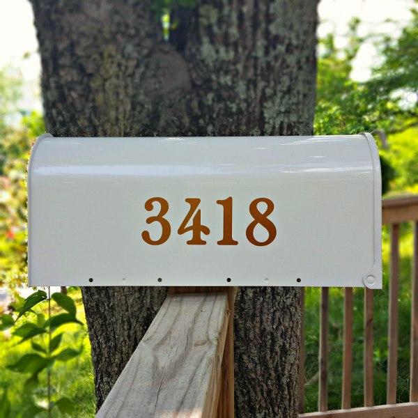 Chatelaine Mailbox Numbers Copper