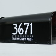 Arts & Crafts style mailbox numbers in white
