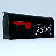 Craftsman mailbox numbers white on black