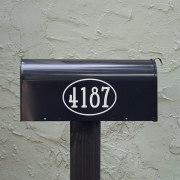 Gandalf Mailbox Numbers White