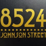 Craftsman Mailbox Decal Gold