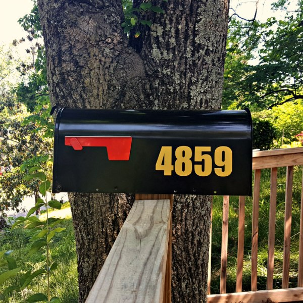 Impact gold mailbox numbers