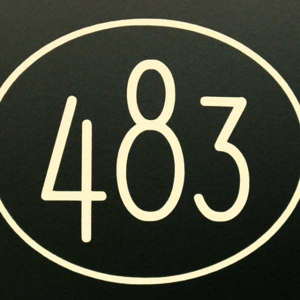 Modern style Beige mailbox numbers