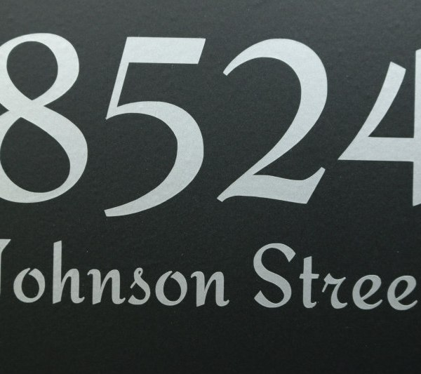 Silver mailbox address decals
