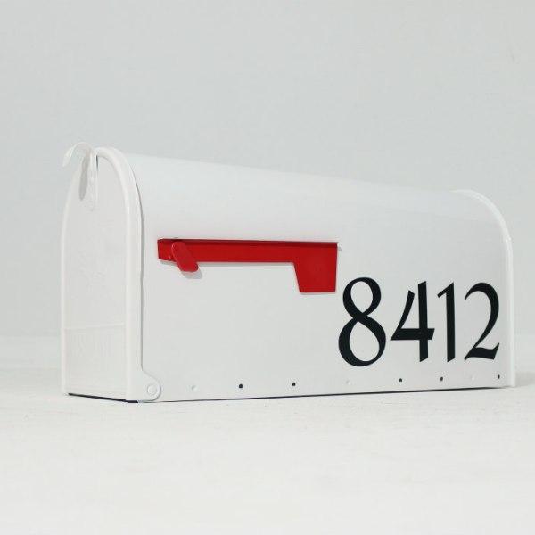 Mailbox Numbers Black